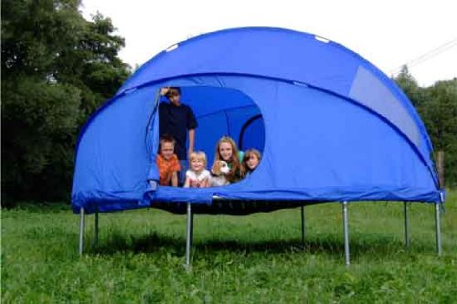 Telt til trampolin – overnat på trampolinen!