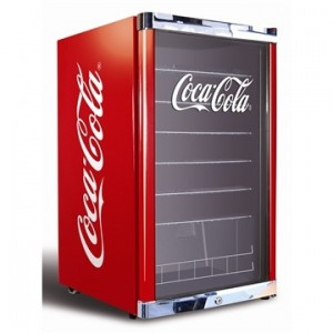 coca cola mini køleskab